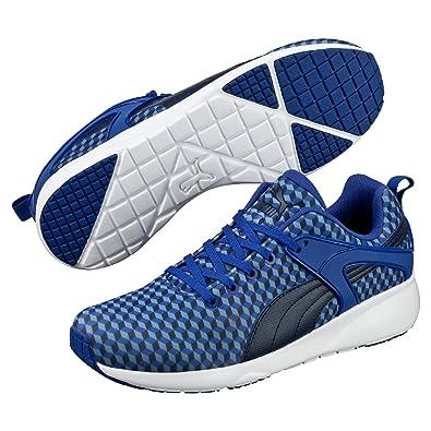 Puma Aril Blaze Geometric, Hombre Zapatillas, Azul, 44.5 EU