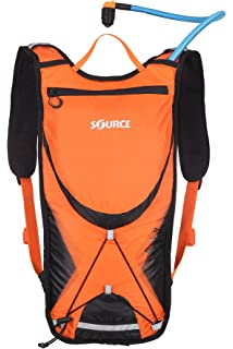 Source Outdoor Brisk Low Profile Hydration Backpack Pack with 2 Liter Taste Free Widepac Bladder -