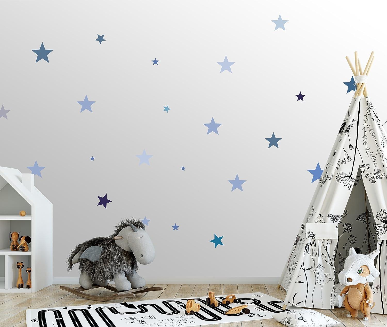 Adhesivo de pared con estrellas para la habitaci/ón del beb/é Juego de 25 pegatinas de pared