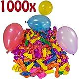 Belmalia 1000 Wasser-bomben Mega-Pack Wasser-ballons Luft-ballon Rot Gelb Lila Blau Orange Pink Grün Bunt