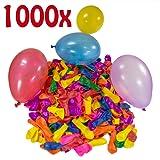 Belmalia 1000 x Wasserbomben Mega-Pack Luftballons bunt Wasser Bomben Luft Ballon Wasserballon Set rot gelb lila blau orange pink grün Garten Spiel