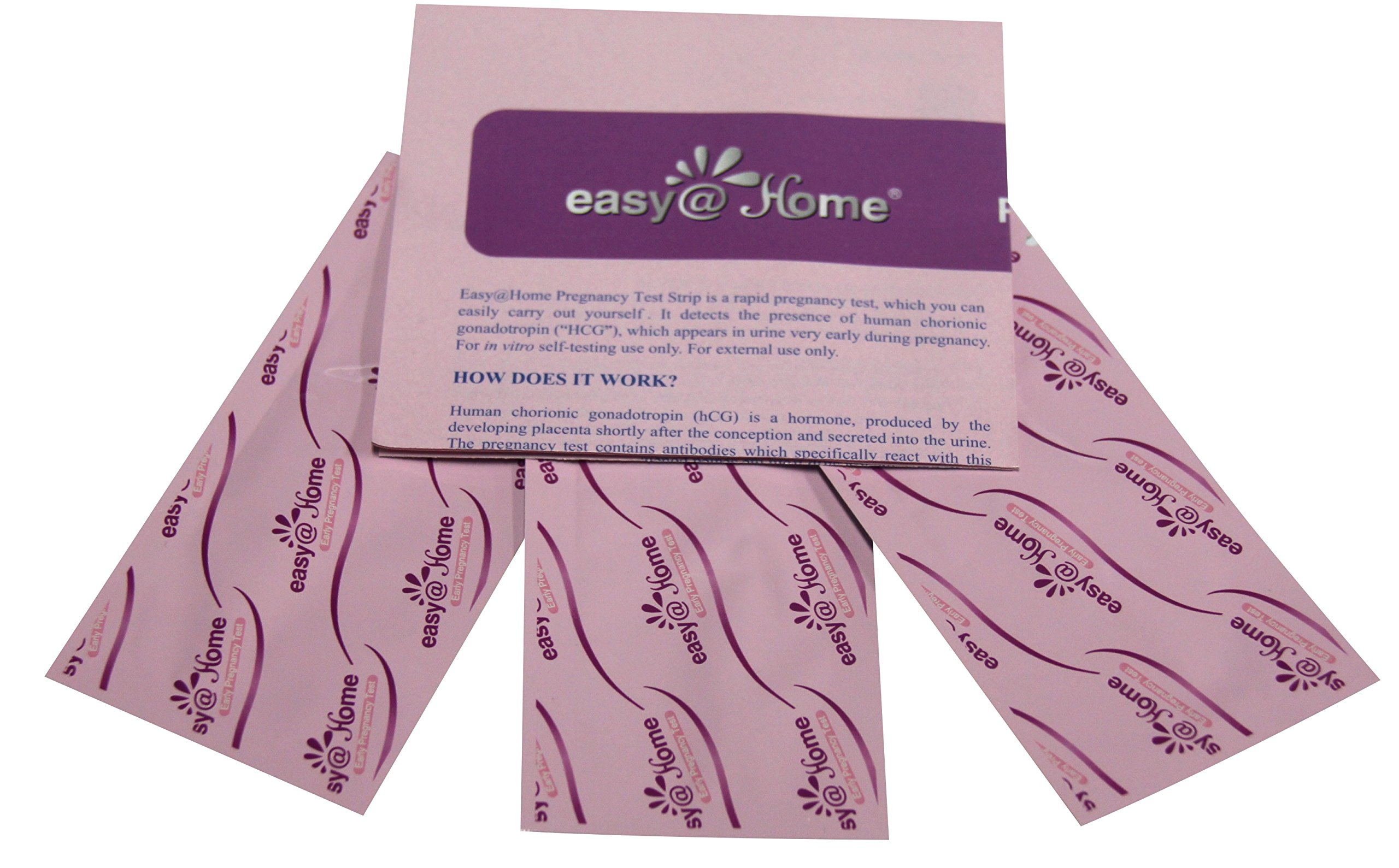 Easy@Home 500 Pregnancy (HCG) Urine Test Strips, Powered by Premom Ovulation Predictor iOS and Android APP, 500 HCG Tests