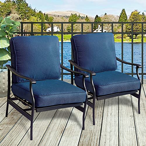 PatioFestival Patio Chairs Bistro Rocking Sofa Chair Modern Outdoor Furniture Set Conversation Set