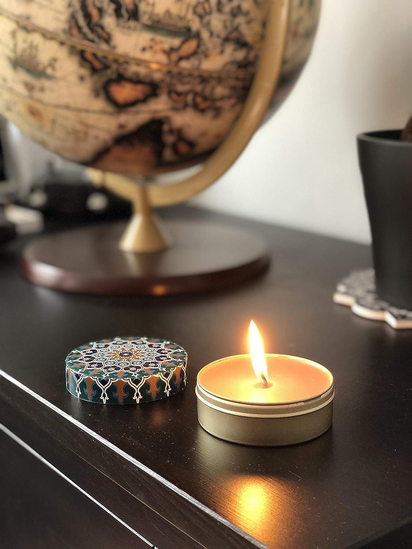 Orient Caramel /& Cotton Vanilla BOHORIA/® Premium Wohlf/ühl-Kerze Duft: Sandalwood Enth/ält nat/ürliche /ätherische /Öle 3 x Duftkerze in 3 Designs