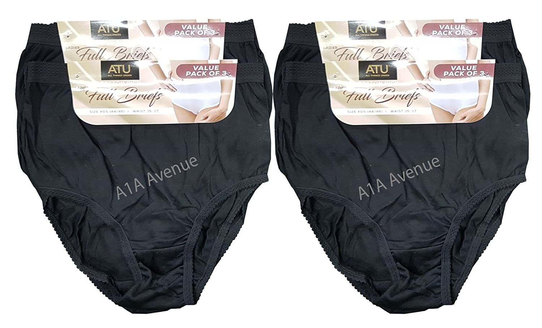 100/% Cotton Full Comfort Fit Underwear Size 10-24 Daisy Dreamer 12 Pack Ladies Briefs Maxi