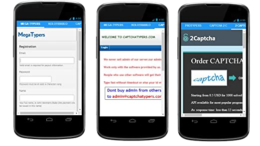 Amazon com: Captcha Entry Jobs: Appstore for Android