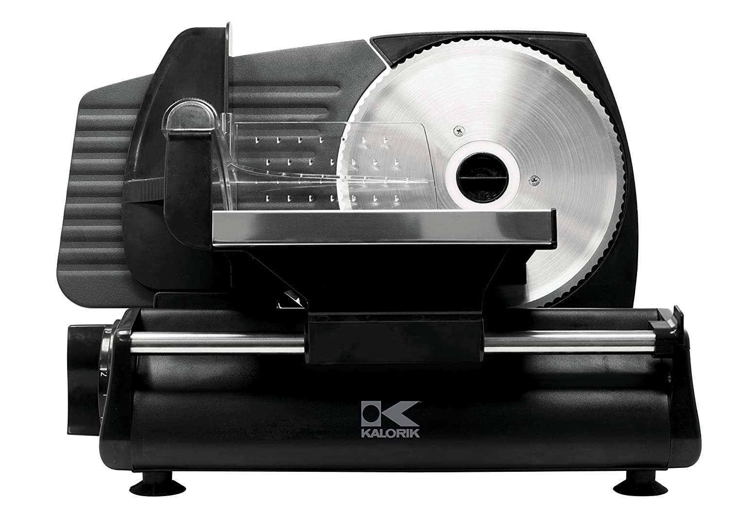 Kalorik Professional Grade Food Slicer, Safety Guard, Easy Clean, No Tool Required. Black.