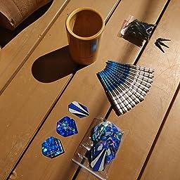 Gallop Chic Dardos Profesionales Punta Plastico (18g), 12 Dardos de Plástico para Dianas Electrónicas - con Barriles de Acero Silver, Eje de Dardos, O-Rings, 32 Plumas: Amazon.es: Deportes y aire libre
