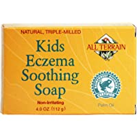 All Terrain Kids Eczema Soothing Soap 4oz, Naturally & Safely Cleanse & Soothe Itchy,