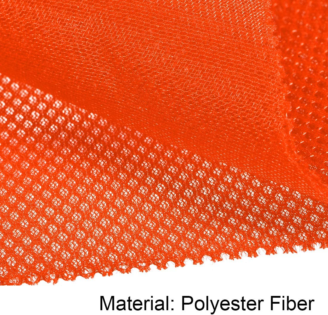 uxcell Speaker Grill Cloth 1x1.45 Meters 39x57 Inch Polyester Fiber Dustproof Stereo Mesh Fabric for Repair DIY Bright Orange