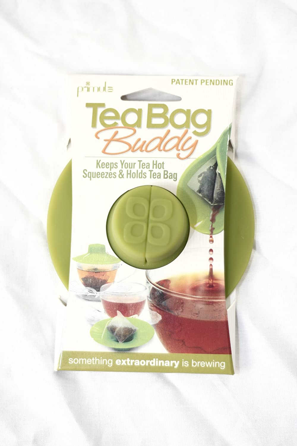 Epoca Silicone Tea Bag Buddy and Cup Cover Lid, 2-Pack, Green