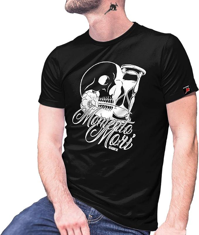 Momento Mori Love 29045 - Camiseta de Manga Corta, diseño de Calavera Mexicano: Amazon.es: Ropa y accesorios