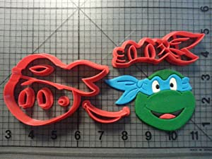 Happy Teenage Mutant Ninja Turtle Cookie Cutter Set (2 inches)