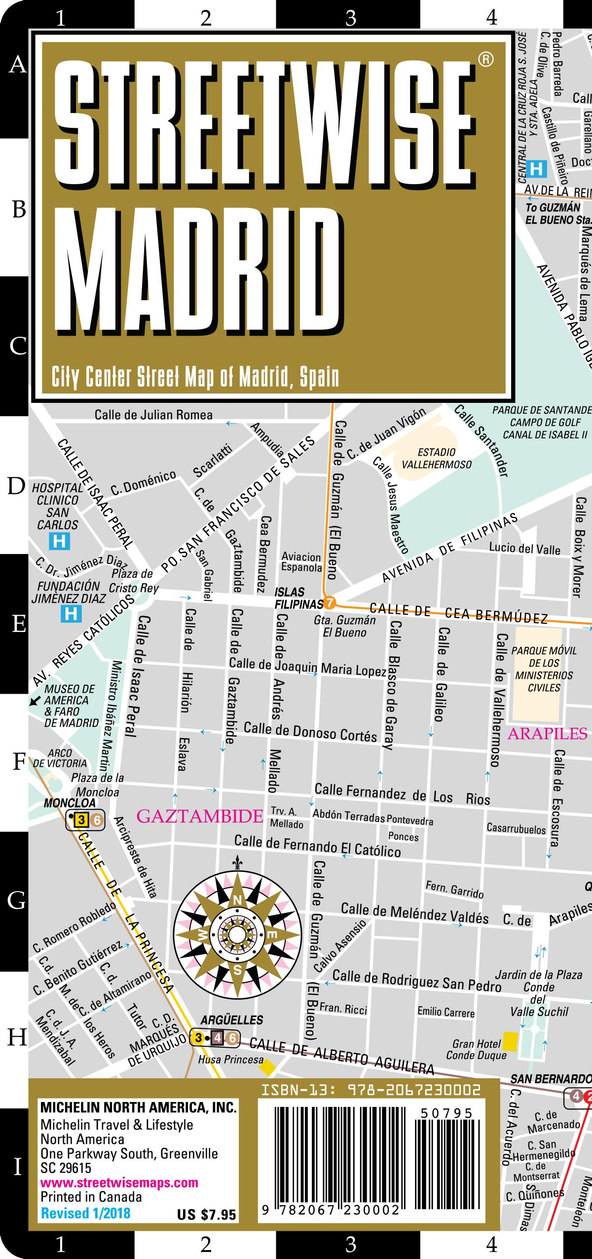 Streetwise Madrid Map - Laminated City Center Street Map of ...