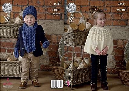 Amazon King Cole Childrens Knitting Pattern Girls Cape Boys