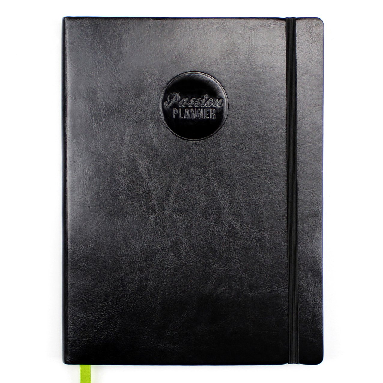 Passion Planner Undated - Goal Oriented Daily Agenda, Appointment Calendar, Gratitude and Reflection Journal - Classic Size (A4) Monday Black