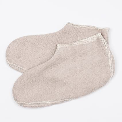 Footlets in Soft Organic Merino Wool size Small Natural White