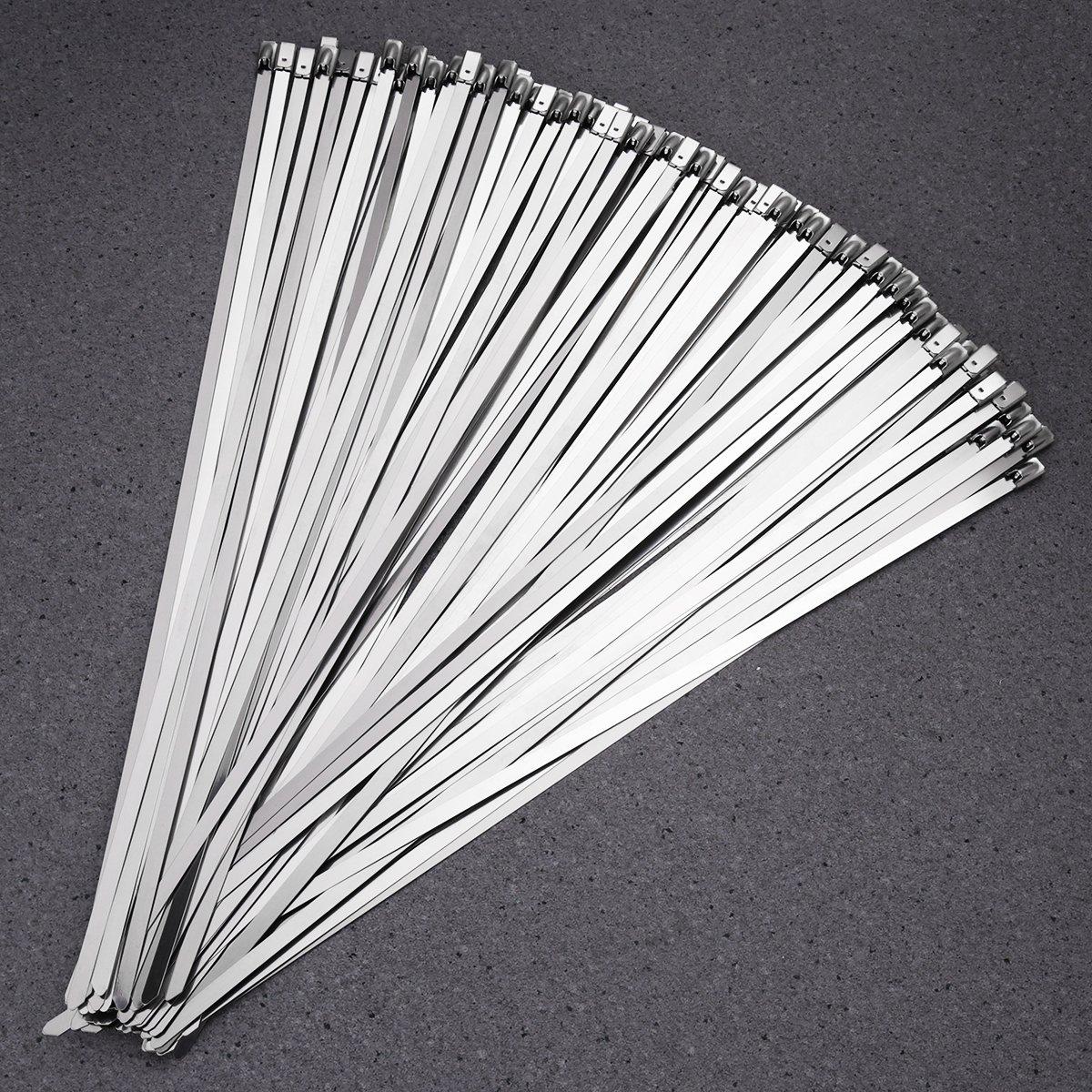 300/mm Abrazaderas de Cable de Acero Inoxidable OUNONA 100/Piezas 4.6/mm