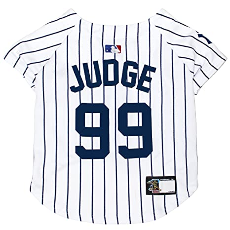 Amazon.com   MLBPA Dog Jersey - Aaron Judge  99 Pet Jersey - MLB New York  Yankees Mesh Jersey b2bab9206d1