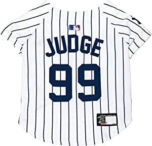 MLBPA Dog Jersey - Aaron Judge #99 Pet Jersey - MLB New York Yankees Mesh Jersey, Small