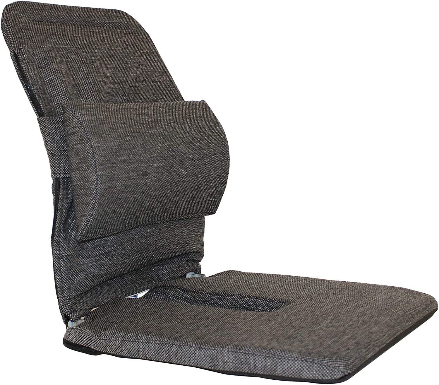 Q QUALITY BRAND COMPANY McCartys Q-BRSCRXM-BLK 14 in Wide Memory Foam Sacro-Ease Ergonomic Seat Support 16x14x19 in Black Color