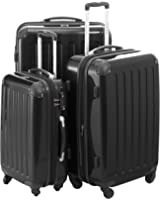 """HAUPTSTADTKOFFER Luggages Sets Glossy Suitcase Sets Hardside Spinner Trolley Expandable (20"""", 24"""" & 28"""") TSA"""