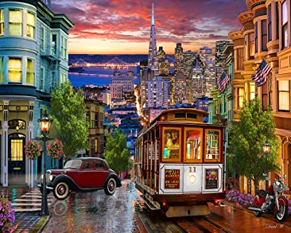 Christmas In San Francisco.Vermont Christmas Company San Francisco Trolley Jigsaw Puzzle 1000 Puzzle