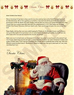 Amazon personalized letter from santa mailed from the north personalized letter from santa spiritdancerdesigns Gallery