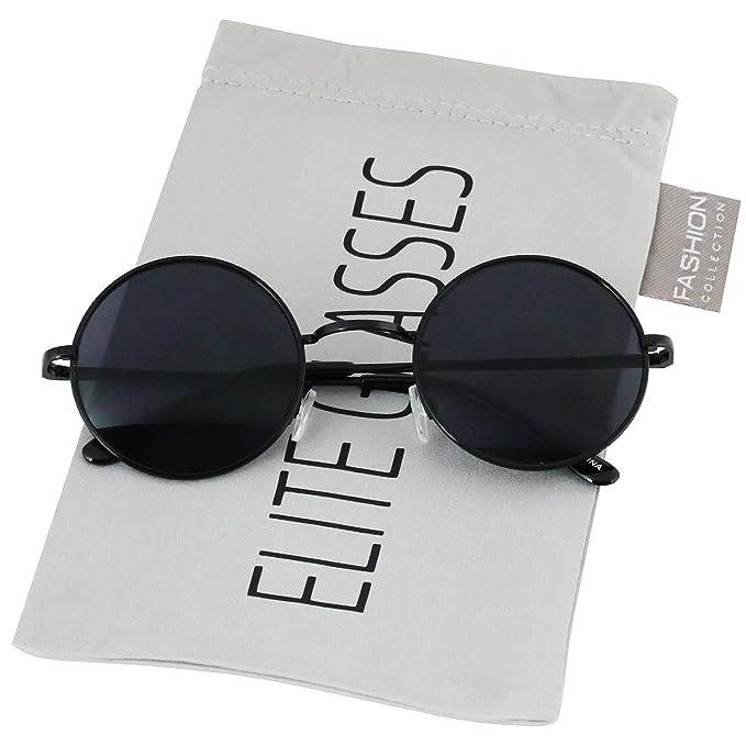 Amazon.com: Círculo redondo Full marco de metal anteojos de ...