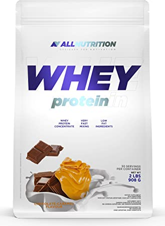 ALLNUTRITION Whey Protein 908g paquete de 1 proteína en polvo proteína de suero en polvo construcción muscular con aminoácidos ramificados BCAA ...
