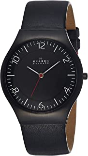 Skagen Mens SKW6113 Grenen Quartz 3 Hand Stainless Steel Black Watch