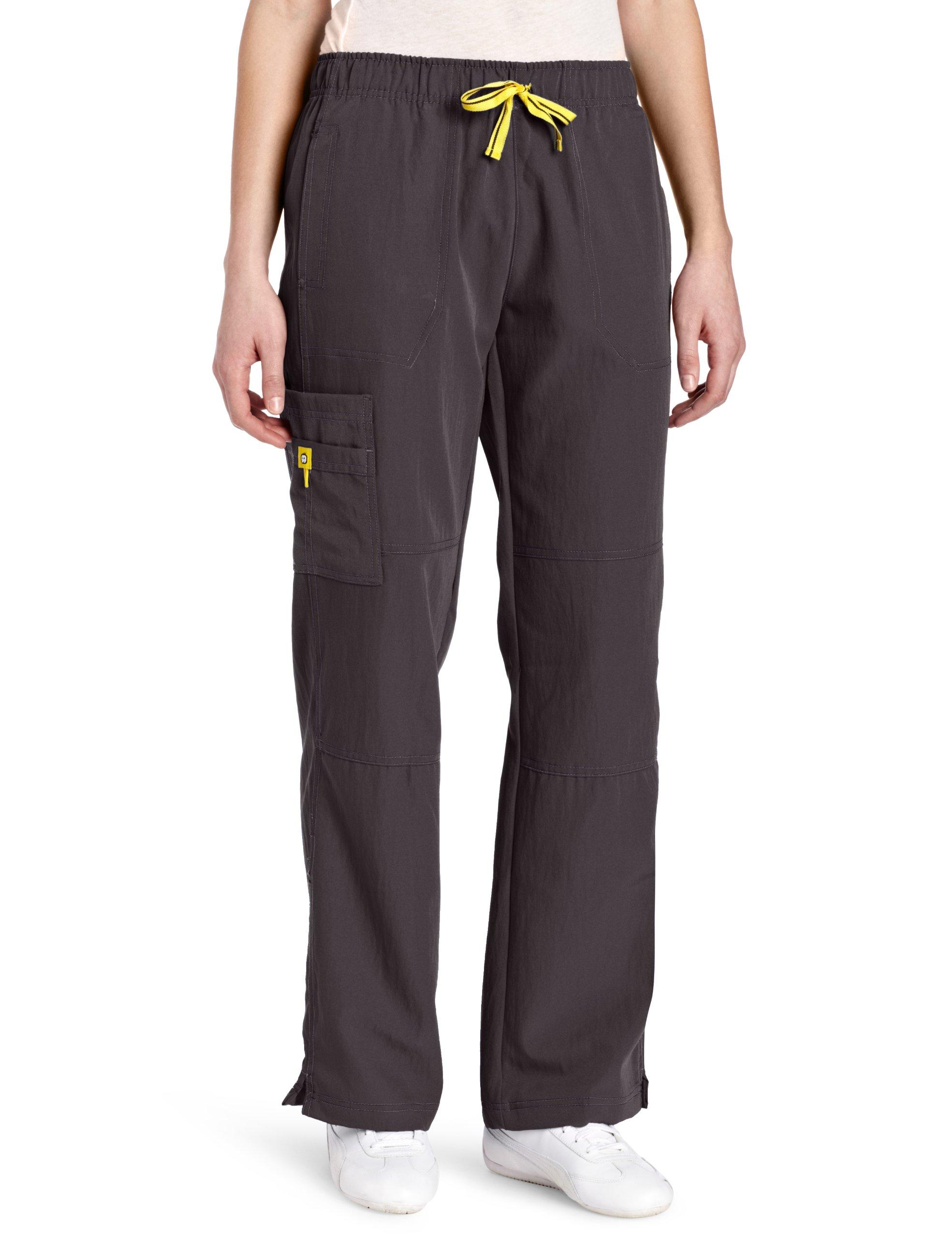 WonderWink Women's Scrubs Four Way Stretch Sporty Cargo Pant, Graphite, X-Large