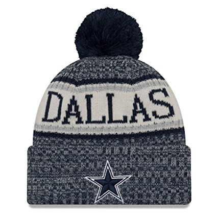1799cbe5 New Era Dallas Cowboys Sport Knit NFL Beanie Unisex Hat Navy Blue/Gray, OSFM