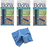 (3 PACK) Bona Hardwood Power Plus Deep Cleaning Pad