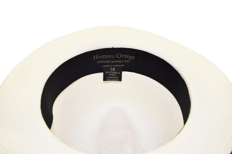 28e116c9cc31 Homero Ortega Panama Hat, Cavalier, Cuenca, Grade 6-196 Weaves Per Inch at  Amazon Men's Clothing store: