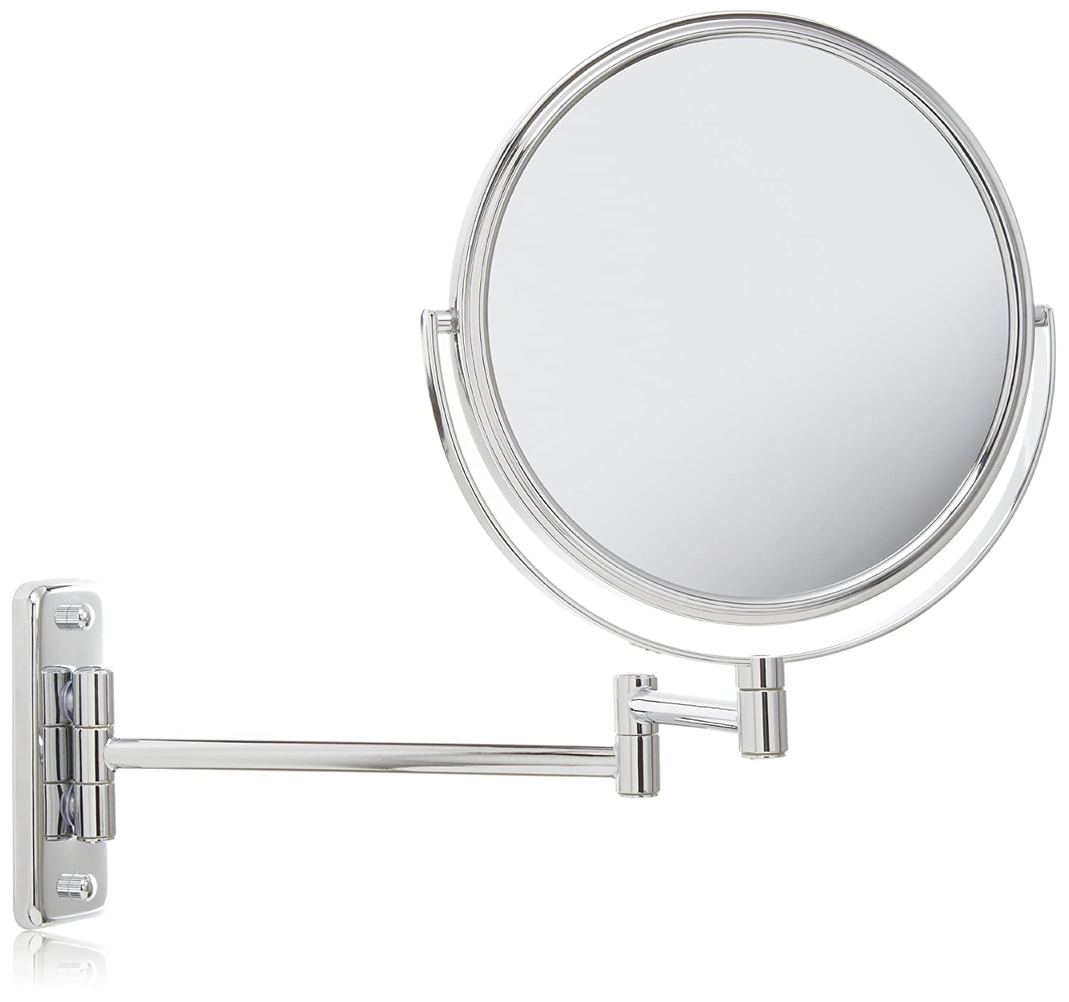 Amazon Jerdon JP7808C 8 Inch Wall Mount Makeup Mirror With 8x Magnification Chrome Finish Personal Mirrors Beauty
