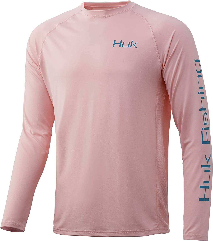 Huk Pursuit Vented Long Sleeve Performece Fishing Shirt Marsala XXL