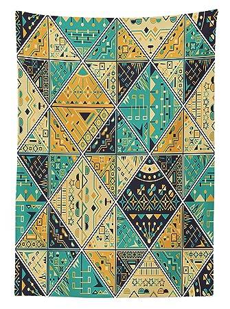 Tribal mantel indio étnico líneas de diseño geométrico con ...