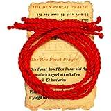 5 pcs Kabbalah Red String Bracelet Evil Eye Protection from Israel with Ben Porat Prayer Card