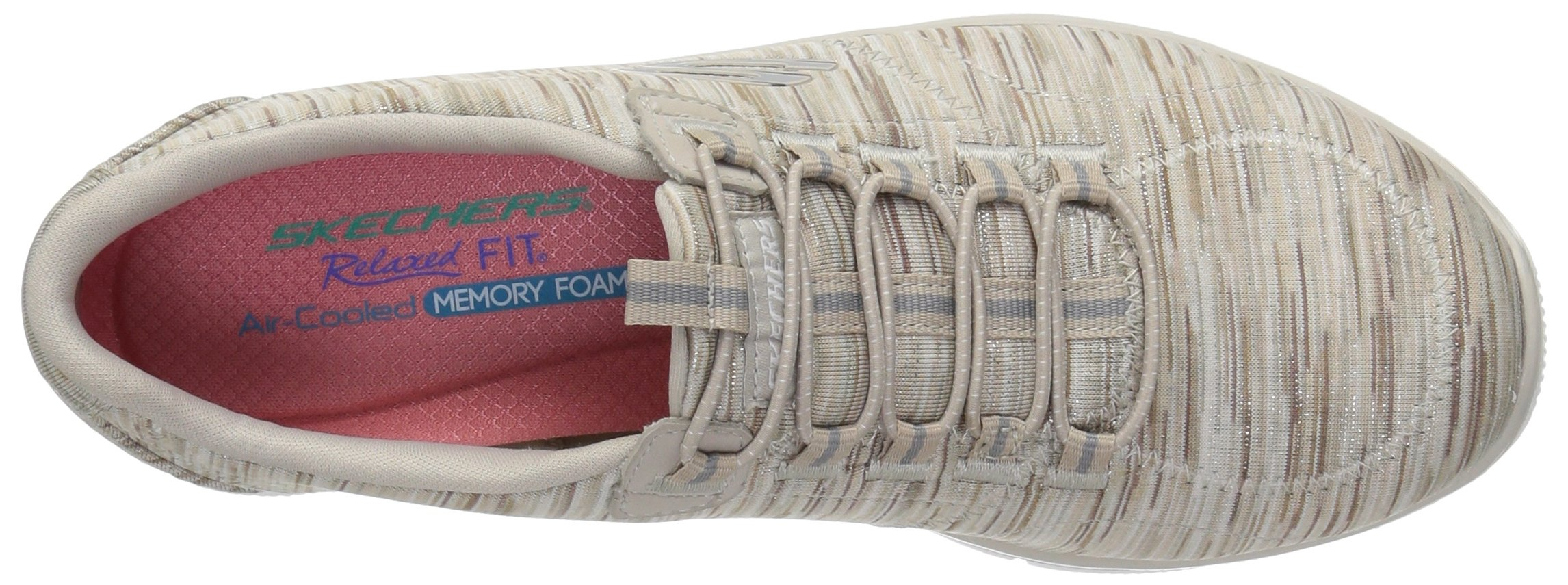 Skechers Women's Empire Game On Memory Foam Sneakers Shoes, Taupe, 6 B(M) US by Skechers (Image #8)