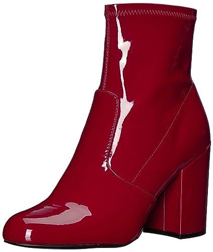 e4f41701800 Steve Madden E7736 Tronchetto Donna eco Patent Gaze Scarpe Red Boot Shoe  Woman