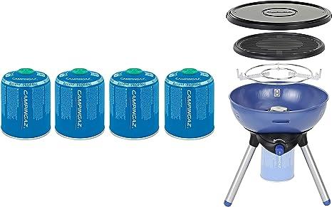 Campingaz Party Grill 200 Barbacoa Portátil Gas de Camping, BBQ Parrilla y Hornillo a gas, 2000 W, functiona con Cartucho de Gas CV 470 Plus
