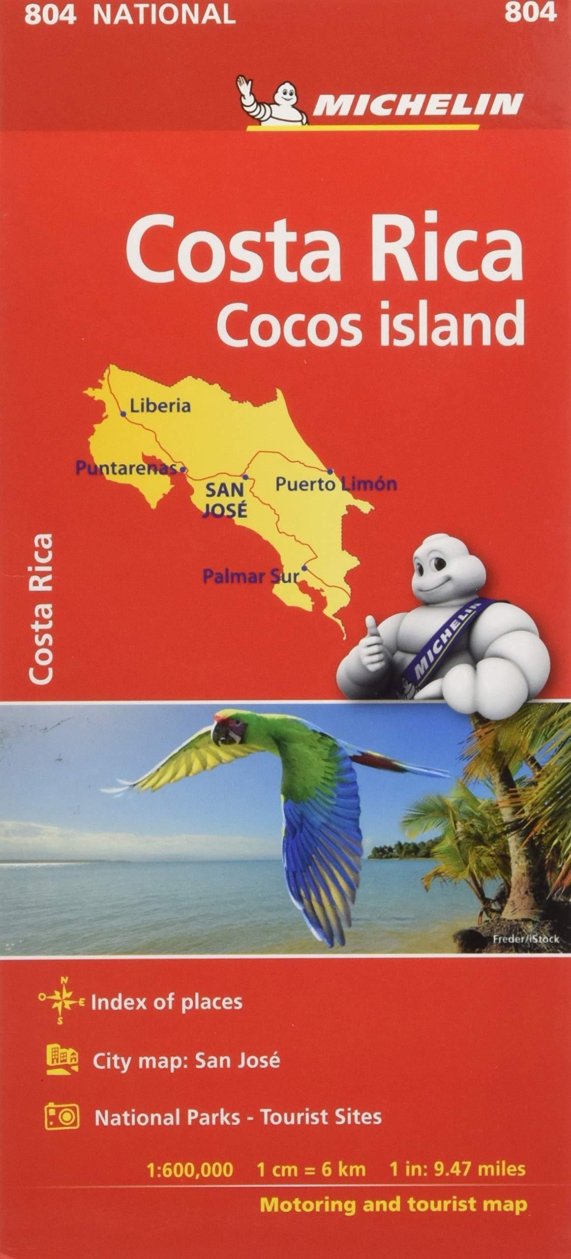 Mapa National Costa Rica (Mapas National Michelin): Amazon.es: Michelin: Libros en idiomas extranjeros