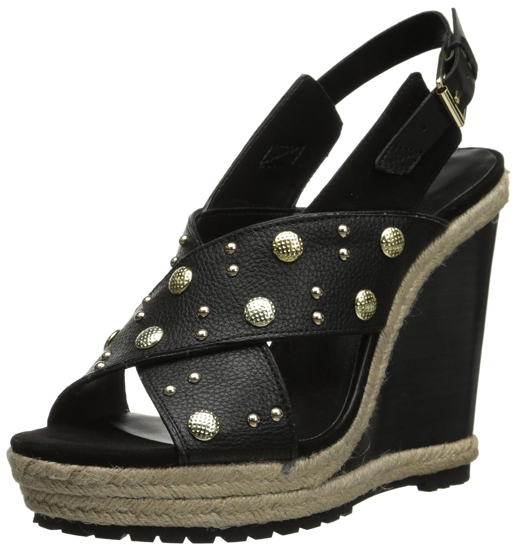 Rebecca Minkoff Women's Kimiko Stud Wedge Sandal B00TOTL6G0 6.5 B(M) US|Black