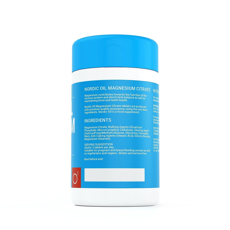 100 pastillas de magnesio de 400 mg - 50 días de suministro de pastillas de magnesio - Fabricado en el Reino Unido por Nordic Oil: Amazon.es: Salud y ...