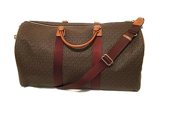 792e99193788 Amazon.com: Michael Kors Michael Kors Leather Travel Logo Duffle Large Bag  Printed Duffel Luggage: Prestige World Fashion