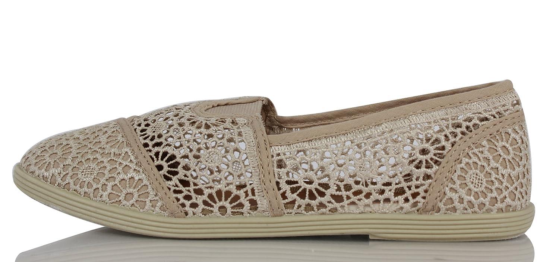 Amazon.com: Soda Cope de la mujer Crochet Slip-On Flat ...