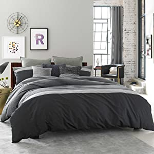 Kenneth Cole Reaction Home Standard Size Pillow Sham from the Fusion Bedding Collection in an Indigo Color
