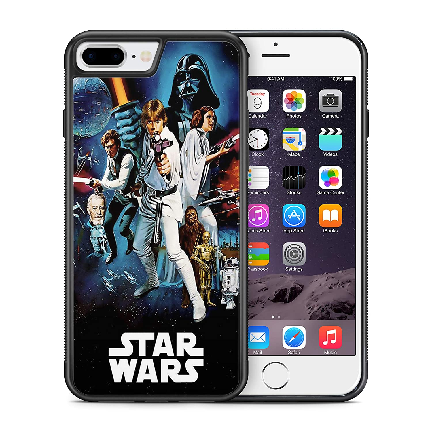 Modifiedcases Vintage 1 Wallpaper Star Wars Bumper Case Compatible With Apple Iphone 7 Plus 8 Plus Amazon In Electronics