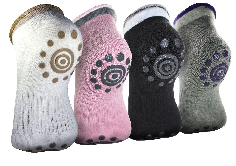 2 paires Non Slip Skid Chaussettes de yoga d'hiver avec des poignets Chaussettes en coton de silicone pour les femmes Chaussettes de ballet Chaussettes de Pilates BigNoseDeer Ltd La43